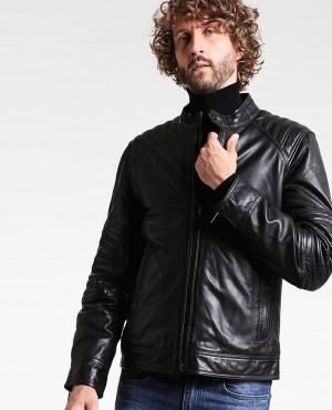 Men Fashionable Leather Jacket