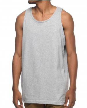 Men Grey Tank Top