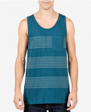 Men High Quality Striped Pocket Tank Top