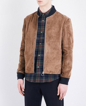 Men Hot Selling Quality Suede Bomber Jacket