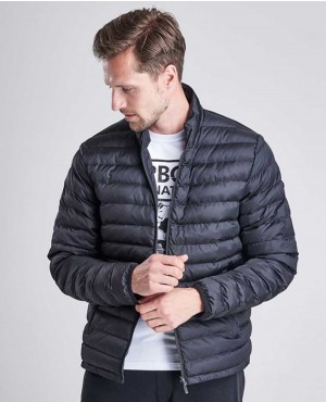 Men International Puff Quilted Jacket Black