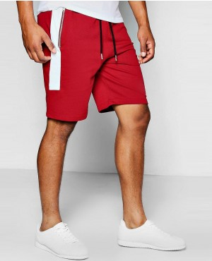 Men Jog Shorts With Side Panel