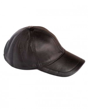 Men Leather Cadet Cap