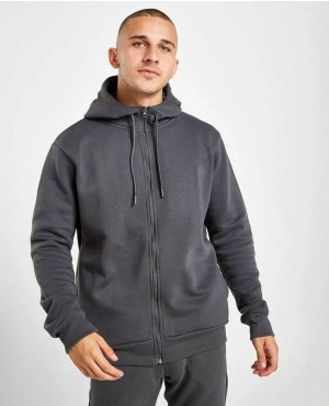 Men Lose Two Tone Tracksuit Set Hoodie Top & Bottoms Joggers Gym Zip Suits