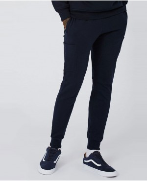 Men Navy Patch Joggers