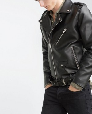 Men New Style Bomber Leather Jacket