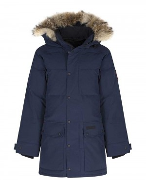 Men Padded Puffer Parka Jacket Ink Blue