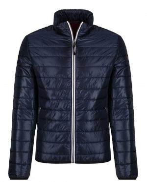 Men Quilted Jacket Blue