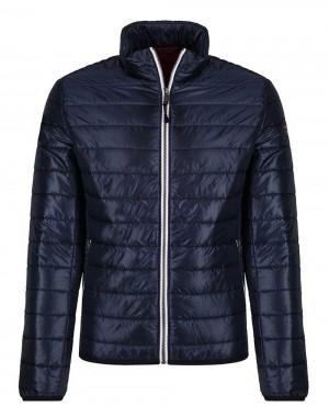 Men Quilted Jacket Blue