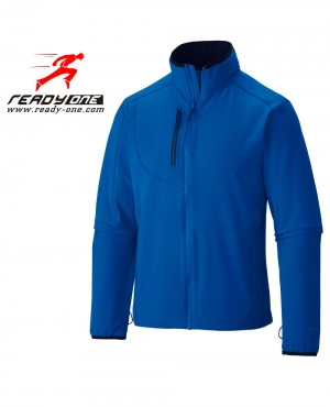 Men Royal Blue Softshell Jacket