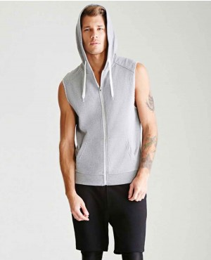 Men Sleeveless Hooded