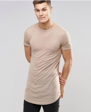 Men Slim Fit Elongated T-Shirt