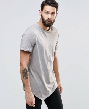 Men Street Style Long T-Shirt