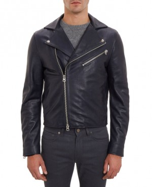 Men Stylish Navy Blue Jacket