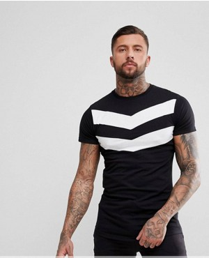 Men-T-Shirt-In-Black-With-Chevron-Custom-Printing-RO-2158-20-(1)