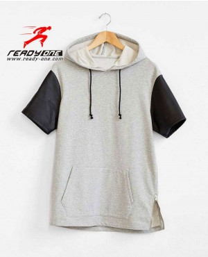 Men Very Stylish Short Sleeves Hoodie