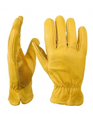 Men Welding Wearable Moto Driver Warm Safety Workers Gloves