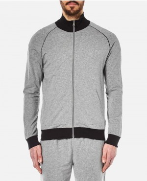 Men Zipper grey Sweatshirt