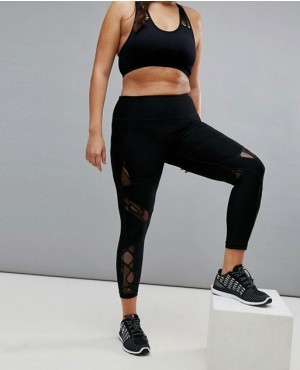 Mesh Panel Custom Printed Panel Gym Legging