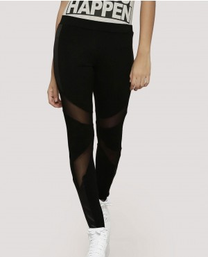 Mesh Panelled Rubex Lycra Women Leggings Tights