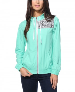 Mint Tribal Windbreaker Jacket