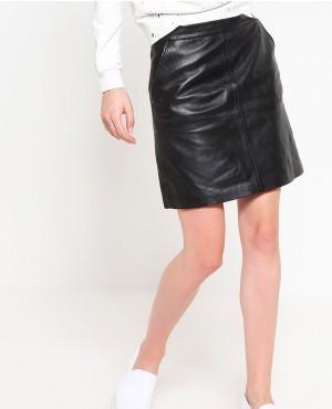 Most Selling Mini Short Leather Skirt Black