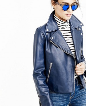 Most Selling Women Custom Branded Leather Biker Jacket