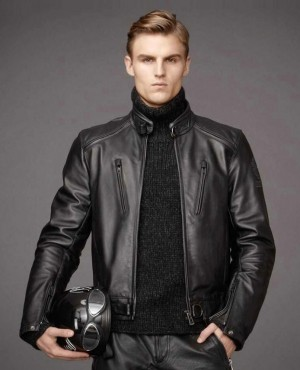 Motorcycle Genuine Cowhide Leather Jacket