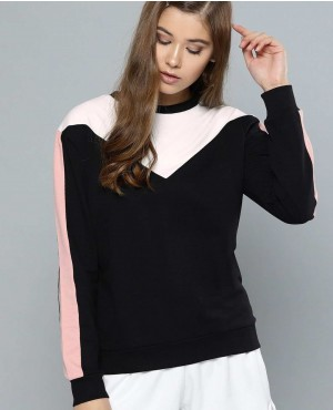Multi Color Blocked Women Sweatshirt