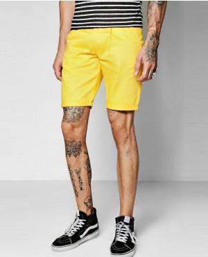 Mustard Skinny Chino Short