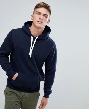 Navy Blue Hoodie With Kangaroo Pocket