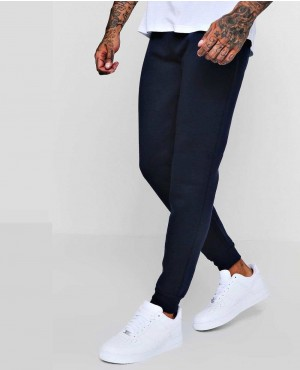 Navy Skiny Fit Basic Fleece Joggers