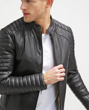 New Arrival Classic Men Stylish Leather Jacket