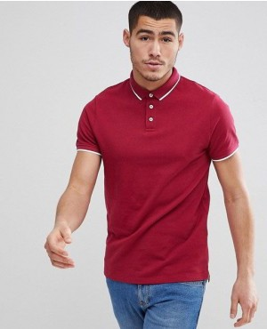 New Arrival Custom Brands Polo Shirt In  Marron Color