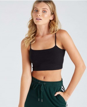 New Basic Style Thin Strap Crop Top With Low MOQ
