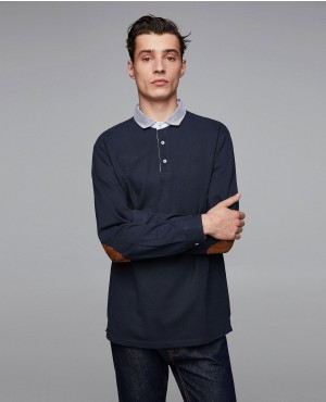 New Coming Pique Polo Shirt With Elbow Patches