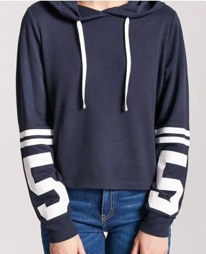 New Custom Brand 55 Graphic Varsits Stripe Hoodie