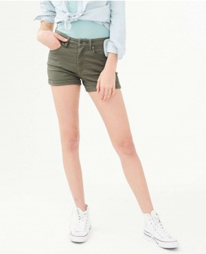 New Custom High Waisted Color Wash Midi Shorts