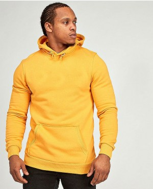 New Custom Made Muscles Gym Fit Hoodie In Yellow Color
