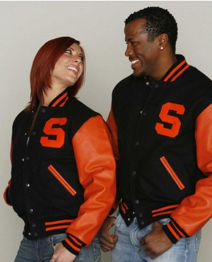 New Fastionable Men College Lettermen Wool & Leather Varsity Jacket