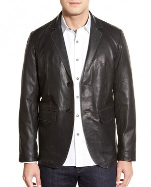 New Genuine Pakistani Cow Hide Lambskin Leather Blazer