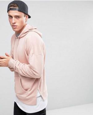 New Look Layered Hoodie In Pink Men Hoodie