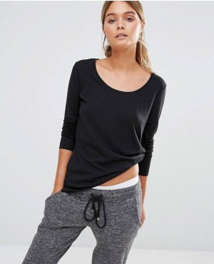 New Look Long Sleeve Curve Hem T-Shirt