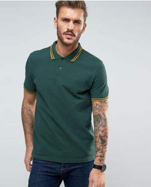 New Look Polo Shirt In Dark Green Men Shirts