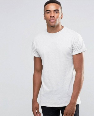 New Look Roll Sleeve T-Shirt In Cream