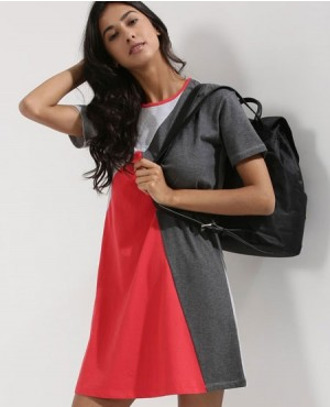 New Look Stylie Color Block T Shirt Dress