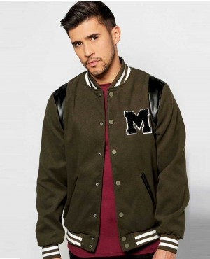 New Look Varsity Jacket With Chest Badge