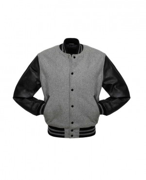 New Look Women College Lettermen Wool & Leather Varsity Jacket