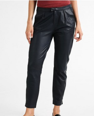 New Skiny Fit Leather Trousers Dark Night