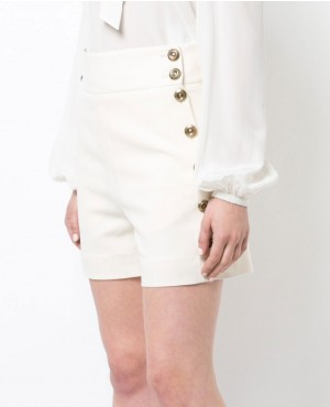 New Trendy Button Detailed High Rise Shorts